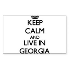 Keep Calm and Live In Georgia Decal