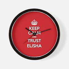 Trust Elisha Wall Clock
