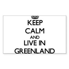 Keep Calm and Live In Greenland Decal