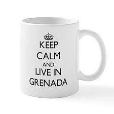 Keep Calm and Live In Grenada Mugs