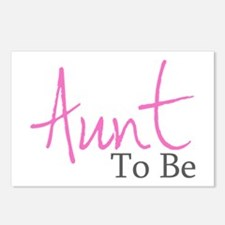 Aunt To Be (Pink Script) Postcards (Package of 8)