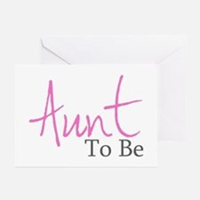 Aunt To Be (Pink Script) Greeting Cards (Package o
