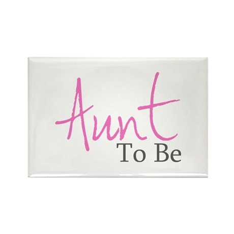 Aunt To Be (Pink Script) Rectangle Magnet (10 pack