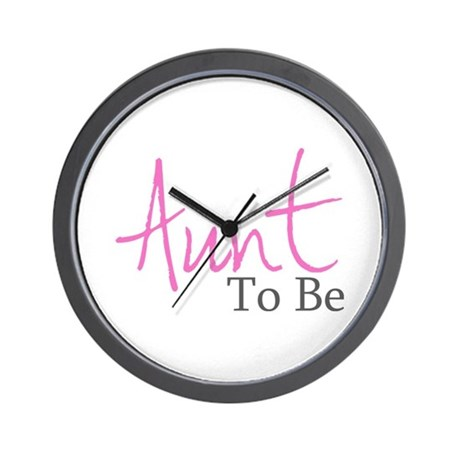 Aunt To Be (Pink Script) Wall Clock