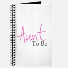Aunt To Be (Pink Script) Journal