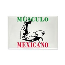 Músculo Mexicano Rectangle Magnet