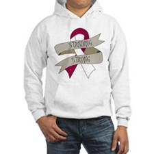 Throat Cancer Standing Strong Hoodie
