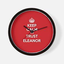 Trust Eleanor Wall Clock