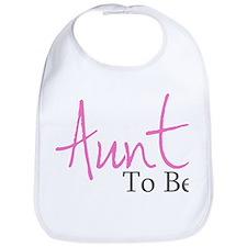 Aunt To Be (Pink Script) Bib