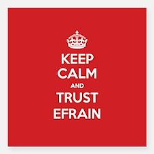 """Trust Efrain Square Car Magnet 3"""" x 3"""""""