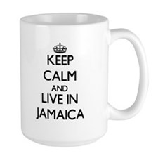 Keep Calm and Live In Jamaica Mugs