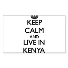 Keep Calm and Live In Kenya Decal