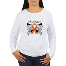 Butterfly Multiple Sclerosis Long Sleeve T-Shirt