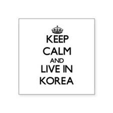 Keep Calm and Live In Korea Sticker