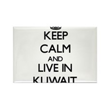 Keep Calm and Live In Kuwait Magnets
