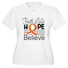 Faith Multiple Sclerosis Plus Size T-Shirt