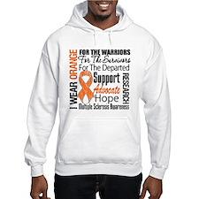 Multiple Sclerosis Orange Ribbon Hoodie