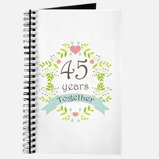 45th Anniversary flowers and hearts Journal