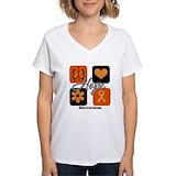 Ms awareness Womens V-Neck T-shirts