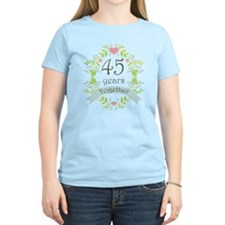45th Anniversary flowers and T-Shirt