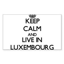 Keep Calm and Live In Luxembourg Decal