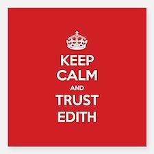 """Trust Edith Square Car Magnet 3"""" x 3"""""""