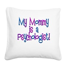 MommyPsychPinkBlue.psd Square Canvas Pillow