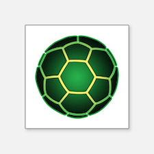 "Green soccer ball Square Sticker 3"" x 3"""