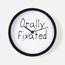 Orallyfixated2.jpg Wall Clock