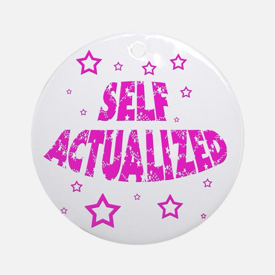 selfactualizedpink2.png Ornament (Round)