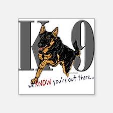 German Shepherd K-9 Oval Sticker #2 Sticker
