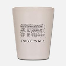 Try SCE to AUX. Shot Glass