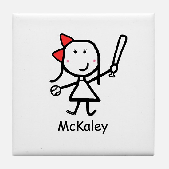 Softball - McKaley Tile Coaster