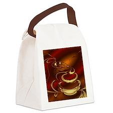 Latte Canvas Lunch Bag