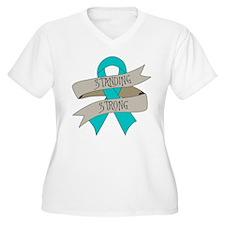 Myasthenia Gravis Standing Strong Plus Size T-Shir