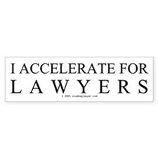 I ACCELERATE FOR LAWYERS Bumper Car Sticker