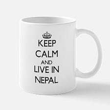 Keep Calm and Live In Nepal Mugs