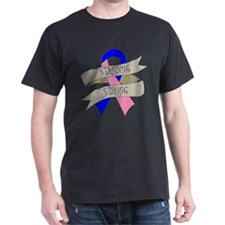 Male Breast Cancer Standing Strong T-Shirt