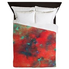 Orange Galaxy  Queen Duvet