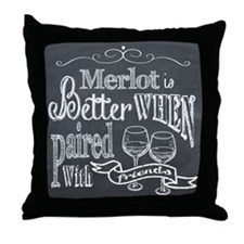 Merlot Chalkboard Throw Pillow