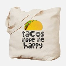 Tacos Make Me Happy Tote Bag