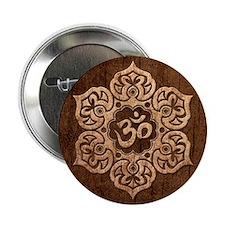 "Lotus Flower Yoga Om with Wood Grain Effect 2.25"""