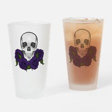Skull N Roses Drinking Glass