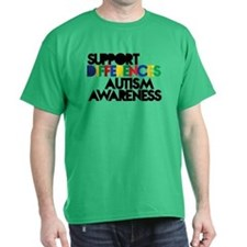 Support Differences - Autism Awareness T-Shirt