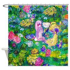 Animals In The Garden Designer Art Shower Curtain