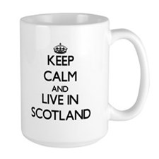 Keep Calm and Live In Scotland Mugs