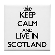 Keep Calm and Live In Scotland Tile Coaster