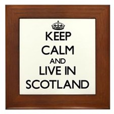 Keep Calm and Live In Scotland Framed Tile
