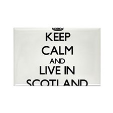 Keep Calm and Live In Scotland Magnets