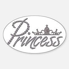 Diamond Princess and Tiara Sticker (Oval)